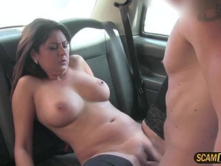Alluring european brunette milf gets awarded a hot cum
