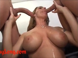 Donny long gives huge cock anal to k q and a dp