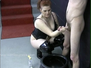 Looks like this mistress wants a jar full of cum