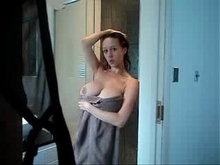 hot mom caught in shower