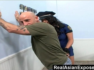 RealAsianExposed Police asian bitch cant resist a rock hard dick