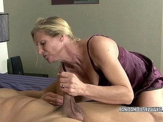 Mature slut Violet fucks a black dude