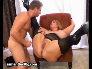 Huge tit milf bbw samantha fucks stud model