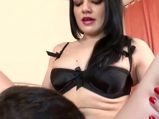 Leashed slave put through queening hell
